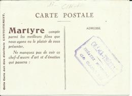 """Carte Publicitaire Du ( Cinéma-Théâtre ) Théâtre Municipal De SAINTES Pour Le Film """" MARTYRE """" - Saintes"""