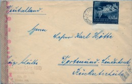 1943 HUNGRIA , SOBRE CIRCULADO  , CENSURA , MOSONSZOLNOK - DORTMUND - Hungría