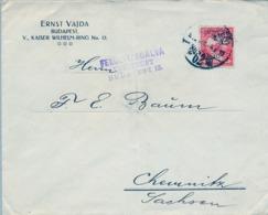 HUNGRIA , SOBRE CIRCULADO  , CENSURA , BUDAPEST - CHEMNITZ - Hungría