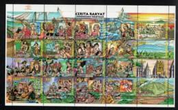 1998 2. Feb Folk Tales Mi ID 1759 - 78 Sn ID 1759a - T Yt ID 1572 - 91 Sg ID 2375 - 94 Gestempelt O - Indonesien