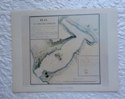 Un Levé De La Pérouse : Plan Du Port Des Français - Extrait D'un Dossier De Documentation Pédagogique  1956 - 27 X 21 Cm - Books, Magazines, Comics
