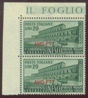 TRIESTE A.M.G.-F.T.T.  SASS. 71 COPPIA CON VARIETA'  NUOVA - 7. Trieste