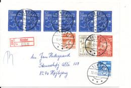 Denmark Registered Cover Sindal 22-10-1991 Sent To Höjbjerg - Denmark