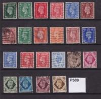 Great Britain 1937-52 King George VI. 22 Values To 1/-,used - 1902-1951 (Könige)