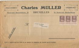 354/30 -- PREO 2 C Typo En Bande De Trois BRUXELLES 12 Sur Bande De Journal  Vers NAZARETH - Precancels