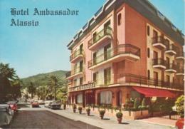 ALASSIO - HOTEL AMBASSADOR - AUTO D'EPOCA CAR VOITURES - ALFA ROMEO GIULIA FIAT 500 - NON VIAGGIATA - Italia