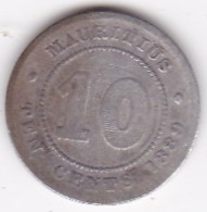 Ile Maurice 10 Cents 1889 H Victoria, En Argent. KM# 10 - Mauricio