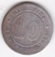 Ile Maurice 10 Cents 1889 H Victoria, En Argent. KM# 10 - Mauritius