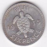 Fidji 6 Pence 1935 George V , En Argent . KM# 3 - Figi