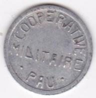 64. Pyrénées Atlantiques. Coopérative Militaire Pau. 55 Centimes , En Aluminium - Monétaires / De Nécessité