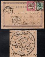 SOUDAN - SUDAN - KHARTOUM / 1901 CP AVEC AMBULANT BENI SOUEF - LE CAIRE   (ref 6562) - Sudan (...-1951)