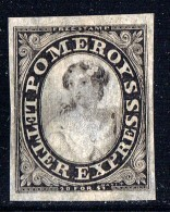 Pomeroy's Letter Express  New York   5 Cents Black On Thin Pelure Paper  Scott 117L8 - 1845-47 Provisorische Ausgaben