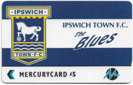 UK (Paytelco) - Football Clubs - Ipswich Town Logo - 3PFLW - 5.900ex, Used - Ver. Königreich