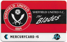 UK (Paytelco) - Football Clubs - Sheffield United Logo - 3PFLO, 5.900ex, Used - Ver. Königreich