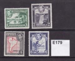 British Guiana 1938 4 Values To 6c( MM) - British Guiana (...-1966)