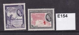 British Guiana 1954 4c And 5c (MM) - British Guiana (...-1966)