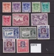 Burma 1945 Military Administration 13 Values To 5R (MM) - Burma (...-1947)