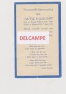 DOODSPRENTJE HILHORST JANTJE HUIZEN (NL) (1934 - 1936) BEWERKT TEGEN KOPIEREN - Devotion Images