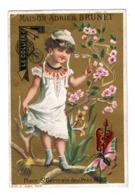 Chromo Imp. Appel, 1-2-10, Demoiselle Et Accessoires De Mode, Maison Aderien Brunet - Cromos