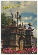 {80857} 29 Finistère Pleyben , Le Calvaire , Façade Principale : Scène De L' Agonie , Résurrection Et Mise En Croix - Pleyben