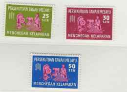 Malaysia - Federation Of Malaysia, 1963, SG 32 - 34, Complete Set Of 3, Mint Hinged - Fédération De Malaya