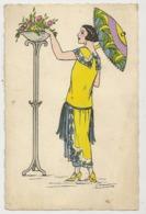 344 - Jeune Dame Portant Une Ombrelle - Altre Illustrazioni