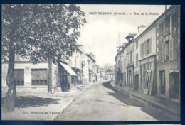 Cpa Du 78  Montesson Rue De La Mairie     LZ88 - Montesson