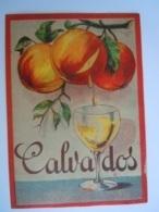 Etiket Etiquette Calvados Fruits Pommes Appels - Etiketten