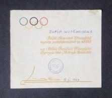 Receipt For Donation Polish Olympic Commitee Reçu Pour Don Comité Olympique Polonais 1969 - Otros