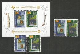 SRI LANKA - MNH - Europa-CEPT - 2006 - Airplanes - Ships - Maps - 2006