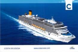 PAQUEBOT CROISIERE : COSTA DELIZIOSA ( Costa Cruises ITALIE / USA Carnival Corporation ) CPM GF - Liner Cruise Ship - Dampfer