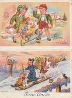 BONNE ANNEE - Lot De 4 CP ( 1 Illustrateur Rob Vel ) - Año Nuevo