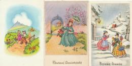 BONNE ANNEE - Lot De 5 CP - Enfants - Illustratuer BARNINI - Año Nuevo