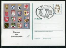 "Bundesrepublik Deutschland / 1996 / Privatpostkarte ""Wappen Der Bundeslaender"" SSt. Hannover(1139) - [7] Federal Republic"