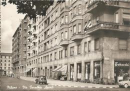 MILANO - VIA FERRANTE APORTI CON FIAT 500 - VIAGGIATA 1957 - (rif. P21) - Milano