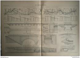 1900 TRANSFORMATION DU CANAL LATÉRAL A LA LOIRE - DIGOIN - GUÉTIN - PONT DE LA SARRÉE - DU MOULE - Travaux Publics