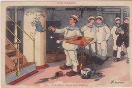 Gervaise, Série Nos Marins, - 40 - L'Auteur Dans Son Atelier - Peintre - Gervese, H.