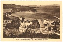 83 - Ile De Porquerolles - Vue Générale En Ballon - Porquerolles