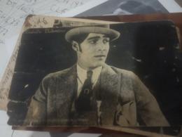 RODOLFO VALENTINO   Film Star CINEMA  ATTORE ACTOR .originale  V1930 HG1522 PIEGHINE E CREPE - Artisti