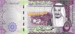 SAUDI ARABIA 5 RIYALS 2016 P-38a UNC [SA516a] - Saudi Arabia