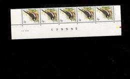 Belgie 2474 Buzin 4Fr 15/10/1992 R Paar Velnummer Drukdatum Datumstrook Bande Datée Velnr 79714 - 1985-.. Birds (Buzin)