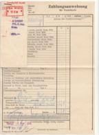 ZAHLUNGSANWEISUNG GKK 1958 - Historische Dokumente