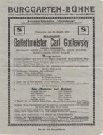 PROGRAMM Der BURGGARTEN-BÜHNE 1927 - Programme