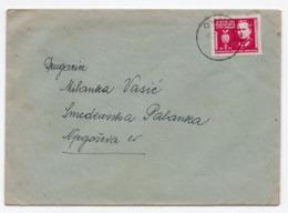 24.08.1945. YUGOSLAVIA, SLOVENIA, CRNUCE, LJUBLJANA TO SMED. PALANKA, TITO, LETTER INSIDE - 1945-1992 Socialist Federal Republic Of Yugoslavia