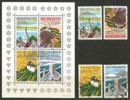 Schweiz: 1987 Nr. 1354-1357+Block 25° - 200 Jahre Tourismus #E13 - Blokken