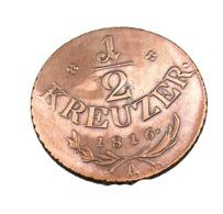 1/2 Kreuzer - Autriche - 1816 A  - Cuivre - TTB - Austria
