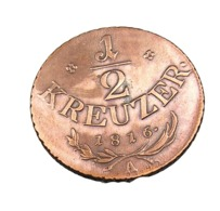 1/2 Kreuzer - Autriche - 1816 A  - Cuivre - TTB - Oostenrijk