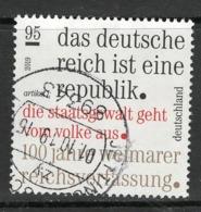 Duitsland, Mi 3488  2019,  Hogere Waarde, Mooi Gestempeld, - [7] République Fédérale