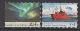 1991 Australian Antarctic Territory Treaty Aurora Australis  Ships Complete Set Of 2 MNH @ 80% Face Value - Australisches Antarktis-Territorium (AAT)