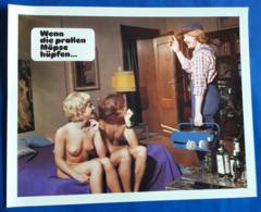"""Erotik-Film """"Wenn Die Prallen Möpse Hüpfen..."""" (nude - Woman + Man - Nackt) # Original Altes Kinoaushangfoto # [19-3683] - Fotos"""